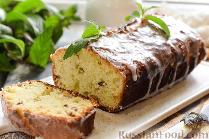 Фото к рецепту: Кабачково-лимонный кекс с фисташками и кокосовой стружкой