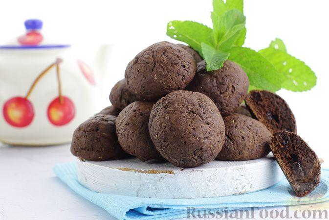 Фото к рецепту: Шоколадное печенье с кабачками