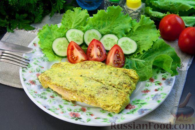 Фото к рецепту: Тушёная рыба в пряных сливках