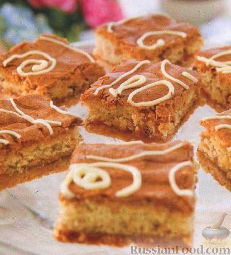 Фото к рецепту: Абрикосовые пирожные