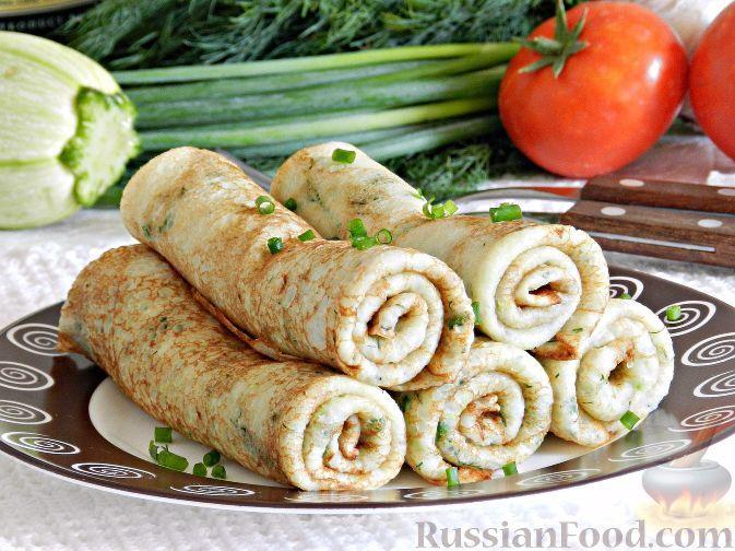 Фото к рецепту: Блины из кабачков с сыром