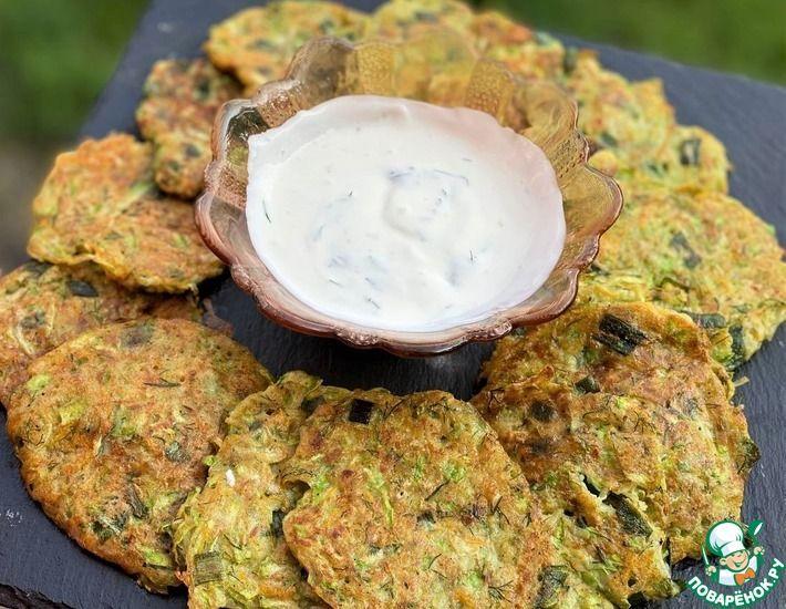 Рецепт: Кабачковые оладьи с картофелем
