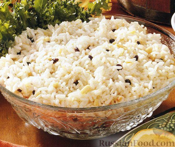 Фото к рецепту: Рис с миндалем и смородиной