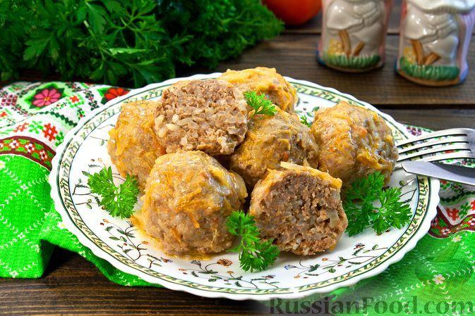 Фото к рецепту: Тефтели, запечённые в томатно-сливочном соусе