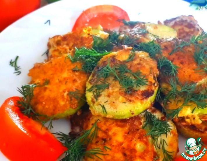 Рецепт: Кабачки с сыром и яйцом