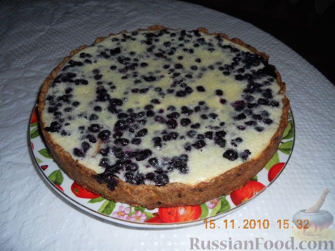"Фото к рецепту: Пирог ""Черника под снегом"""