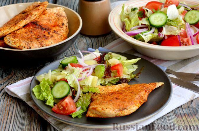 Фото к рецепту: Куриное филе, жаренное в пергаменте