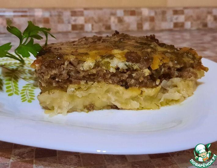 Рецепт: Картофельная запеканка с фаршем