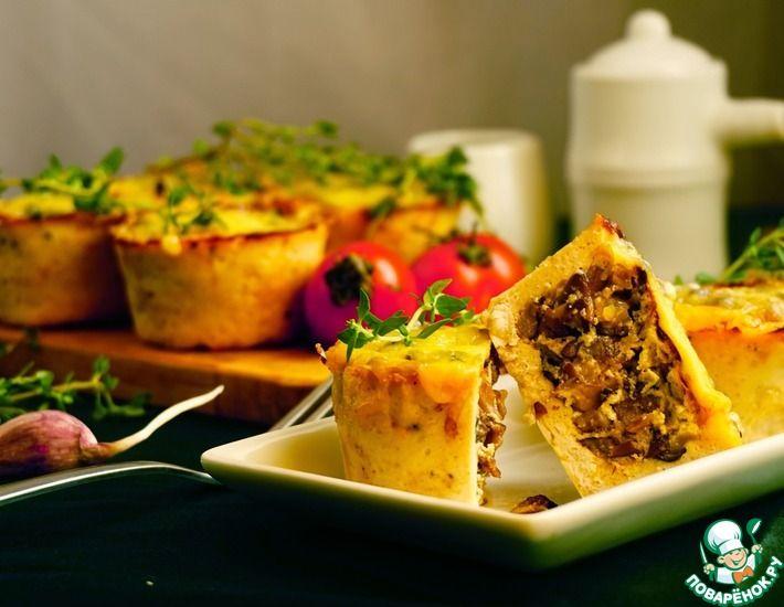 Рецепт: Куриные корзиночки с грибной начинкой
