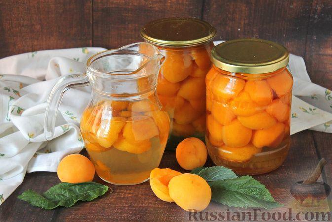 Фото к рецепту: Абрикосы в сахарном сиропе (на зиму)