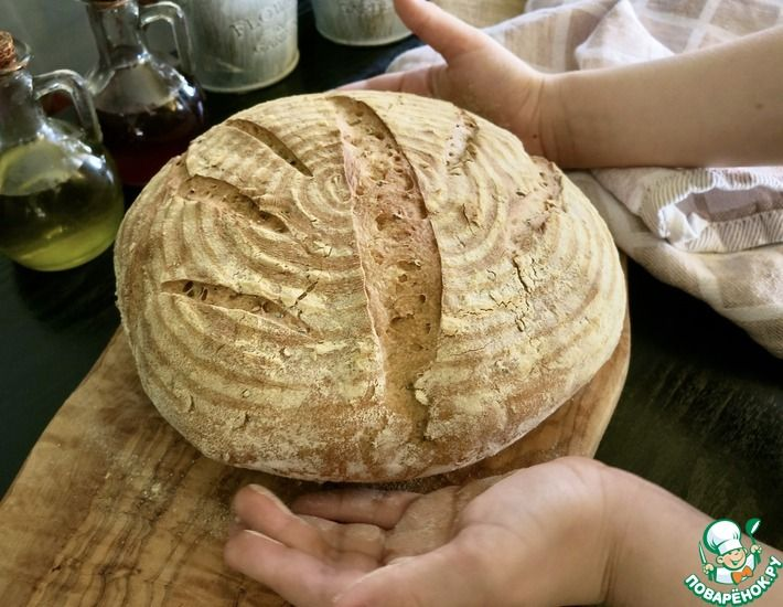 Рецепт: Хлеб без закваски и хлебопечки