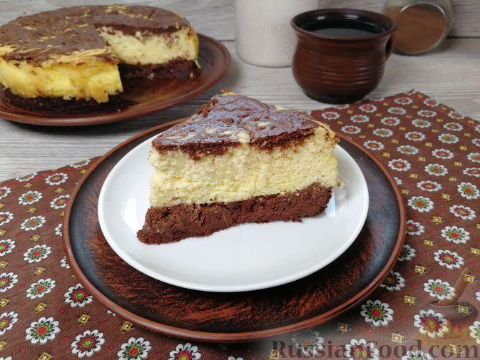 Фото к рецепту: Шоколадно-кофейный творожный пирог (без муки)