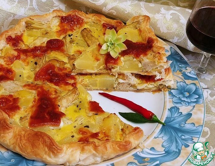 Рецепт: Пирог с картофелем и артишоком