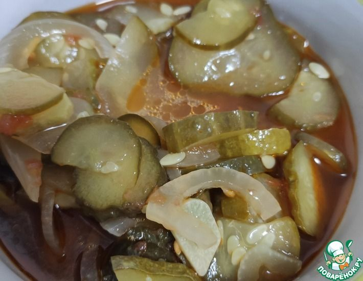Рецепт: Салат из огурцов на зиму
