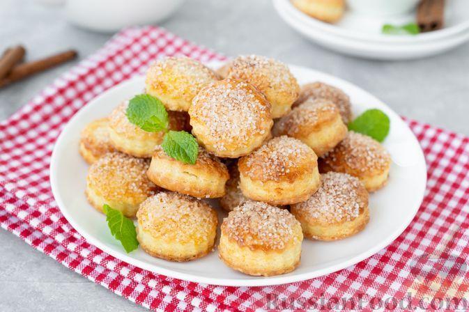 Фото к рецепту: Слоёное творожное печенье с корицей
