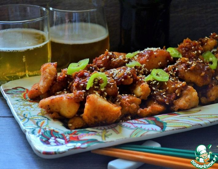 Рецепт: Курица по-корейски Чимэк