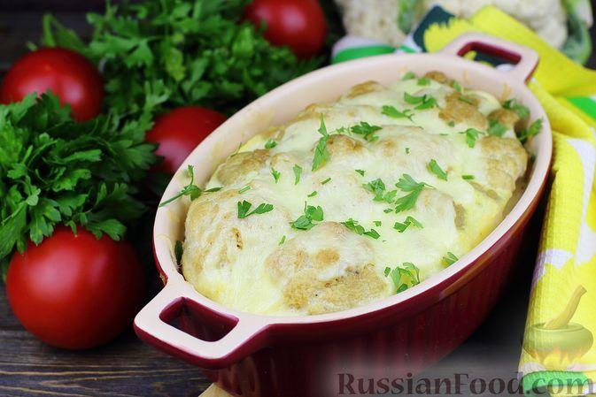 Фото к рецепту: Цветная капуста, запечённая с картофелем (в рукаве)