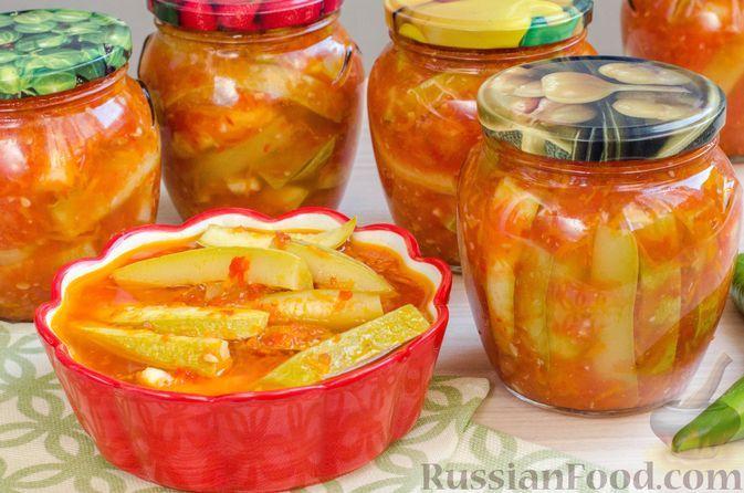 "Фото к рецепту: Кабачки на зиму ""Тёщин язык"" с морковью"