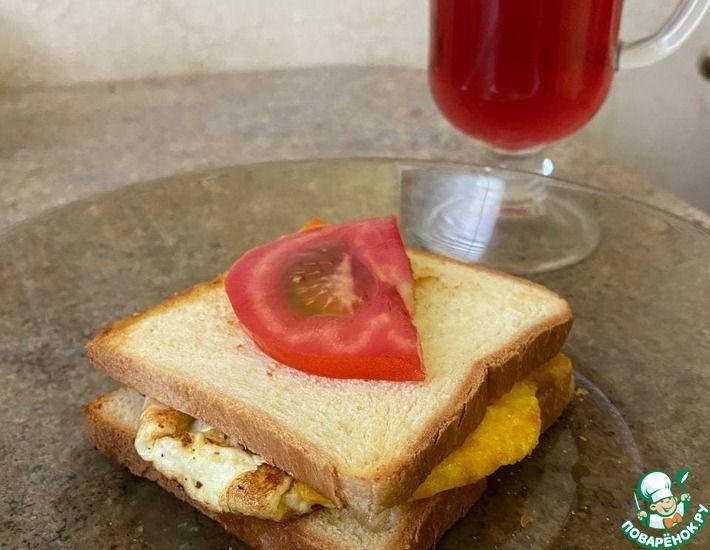 Рецепт: Крахмальные бутерхяки с яйцом и зеленью