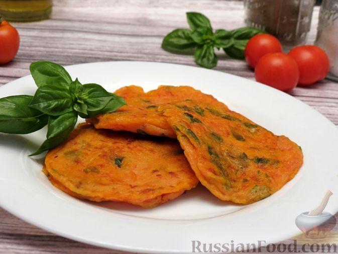"""Фото к рецепту: """"Драники"""" из помидоров"""