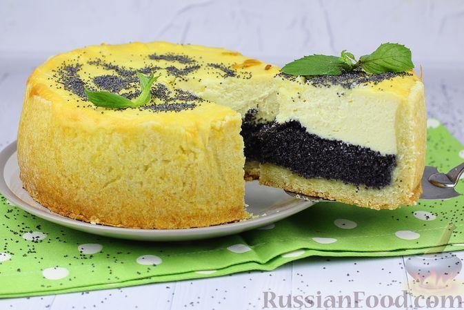 Фото к рецепту: Творожный тарт с маком (из рубленого теста)
