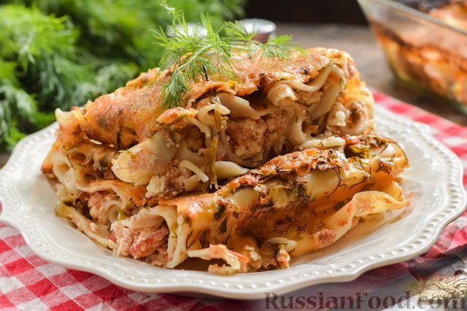 Фото к рецепту: Каннеллони с начинкой из сыра фета и помидоров (в духовке)