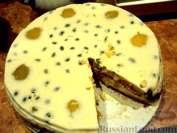 """Фото к рецепту: Творожно-персиковый торт """"Нежность"""""""