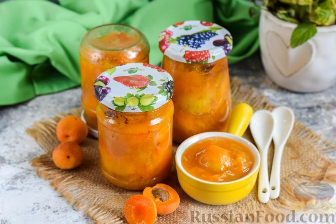 Фото к рецепту: Варенье из абрикосов c имбирём