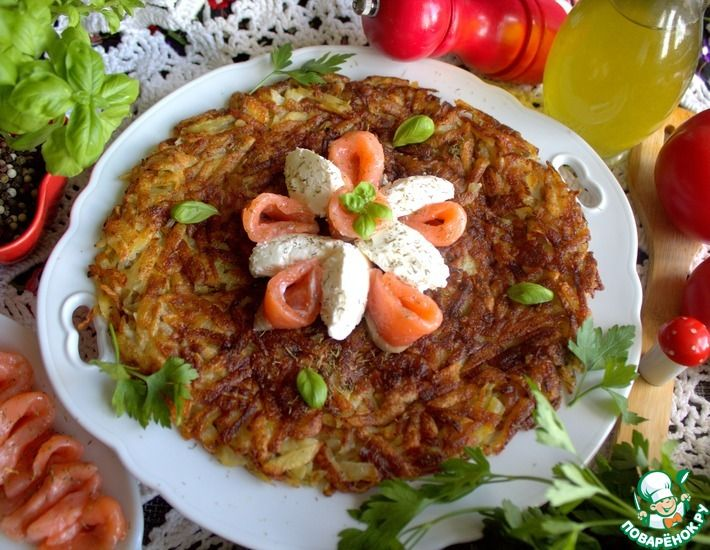 Рецепт: Картофель по-швейцарски Рёшти