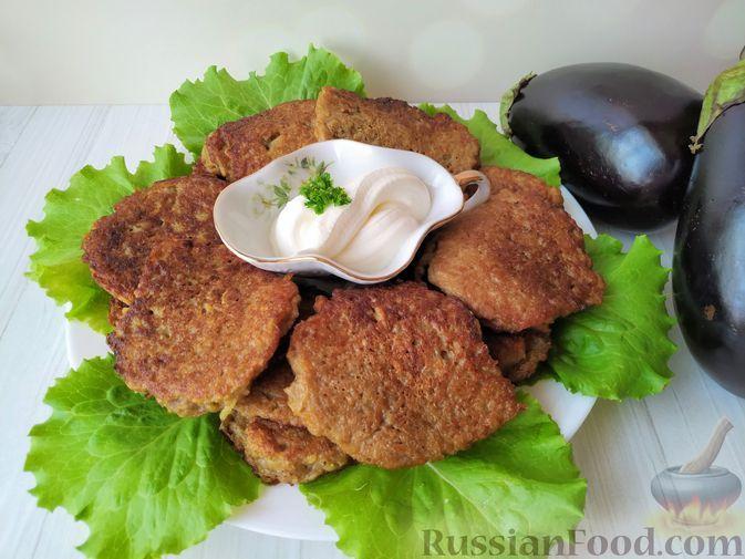 Фото к рецепту: Оладьи из баклажанов и картофеля