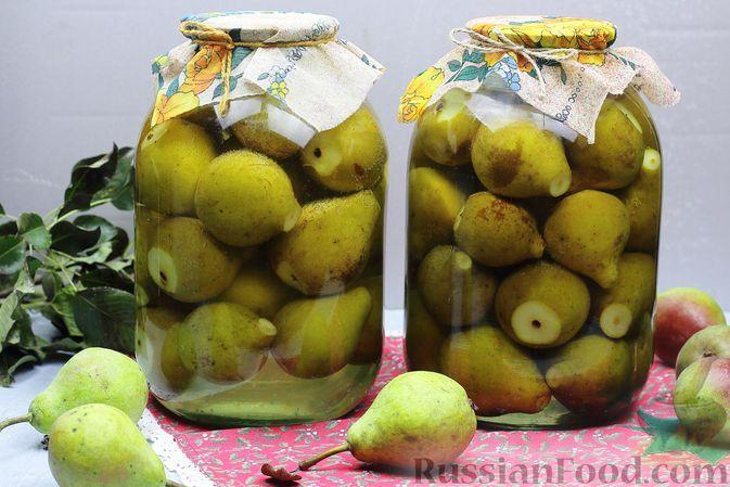 Фото к рецепту: Целые груши, консервированные в сиропе