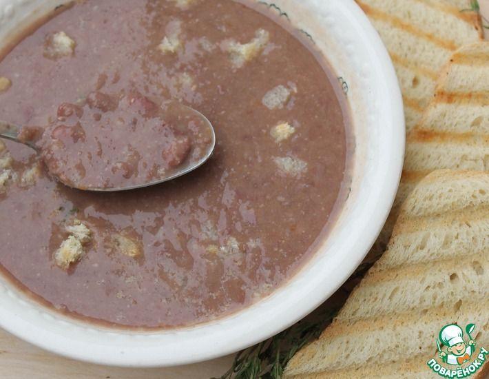 Рецепт: Кремовый фасолевый суп