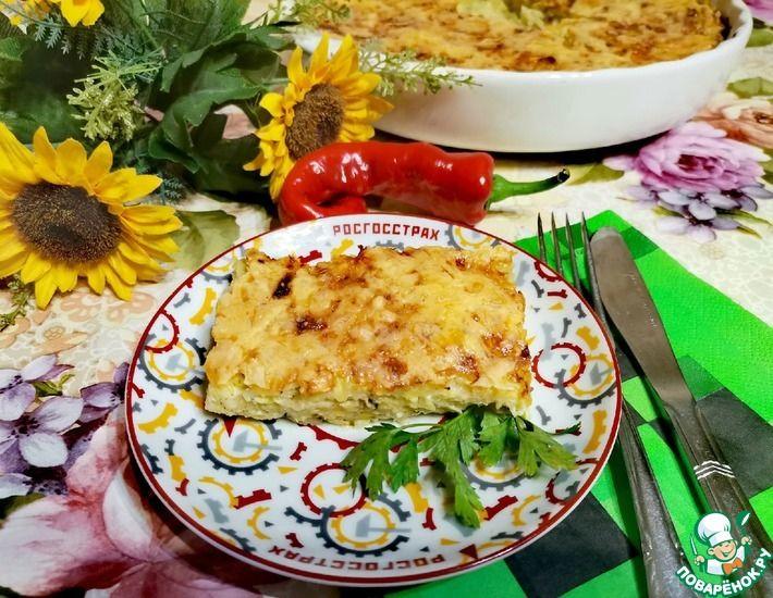 Рецепт: Вермешелевая запеканка с кабачками и сыром