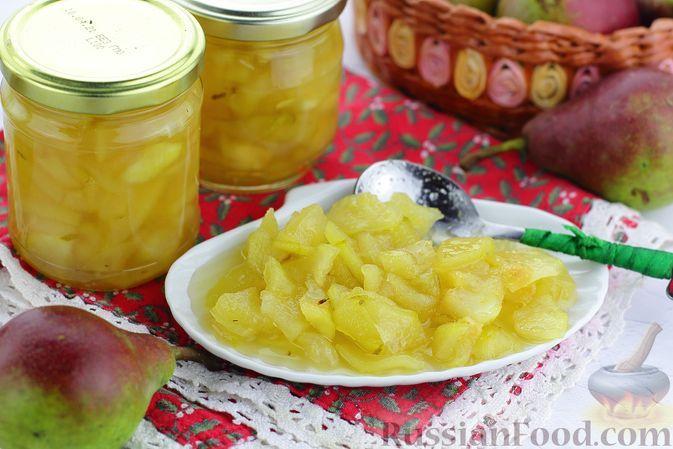 Фото к рецепту: Варенье из груш с лимоном (в сковороде)