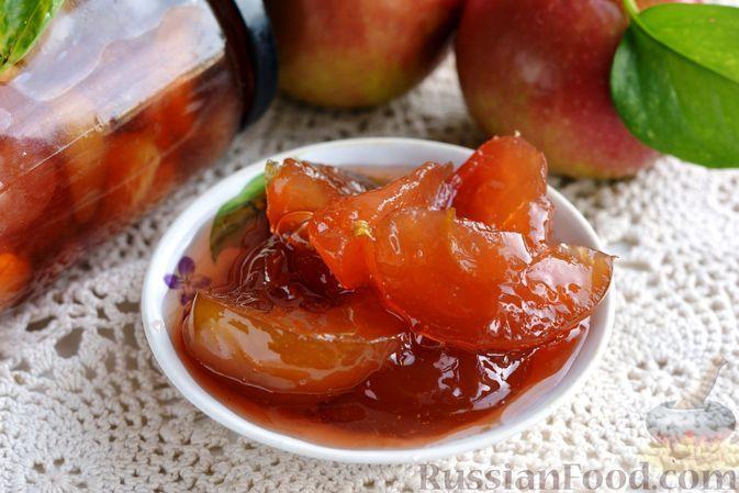 Фото к рецепту: Варенье из яблок дольками, с апельсиновым соком