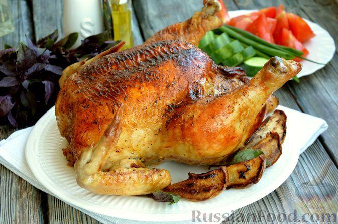 Фото к рецепту: Курица с грушами (в духовке)
