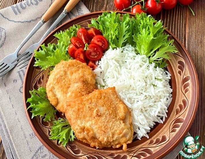 Рецепт: Шницель из курицы