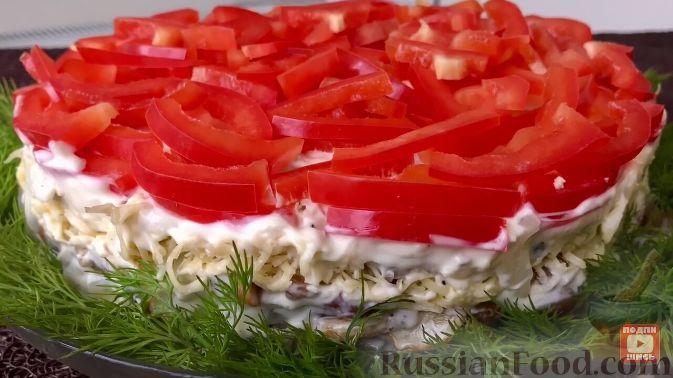 """Фото к рецепту: Новогодний салат """"Ёлочная игрушка"""""""