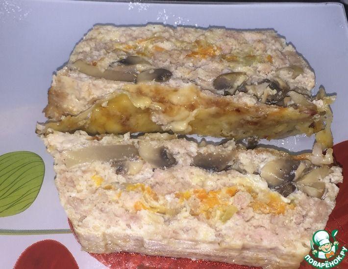 Рецепт: Котлеты с грибами и овощами