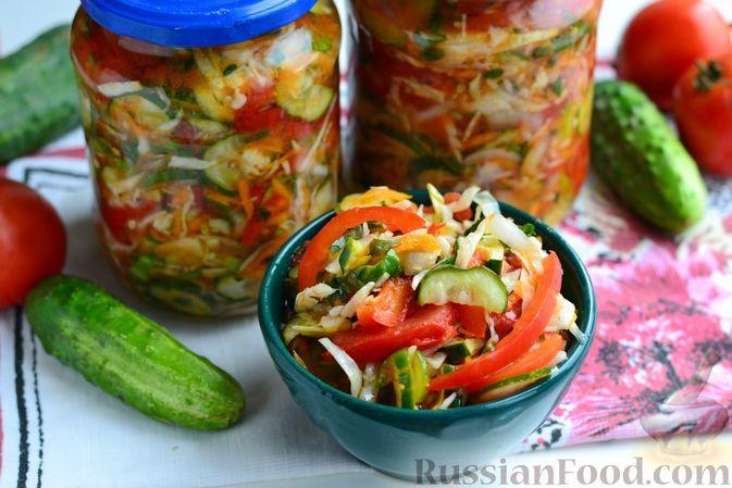 Фото к рецепту: Салат «Кубанский» на зиму