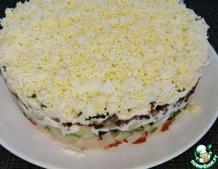 Рецепт: Салат с копченой курицей