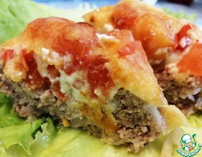 Рецепт: Котлеты с помидорами и сыром в духовке