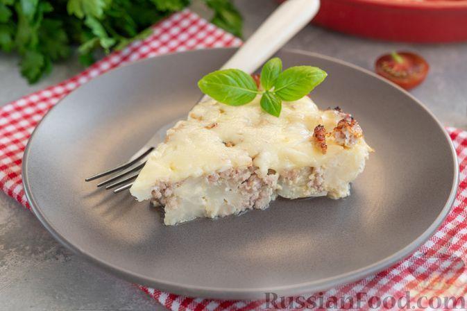 Фото к рецепту: Запеканка из цветной капусты с мясным фаршем и сыром
