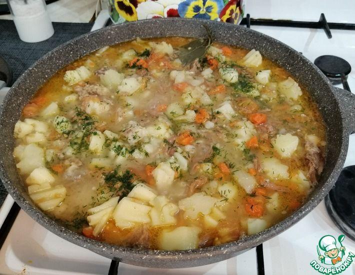 Рецепт: Картошка тушеная с говядиной