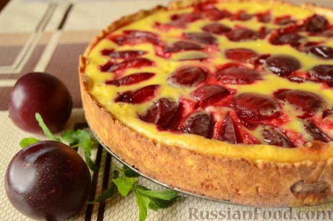 Фото к рецепту: Сливовый тарт