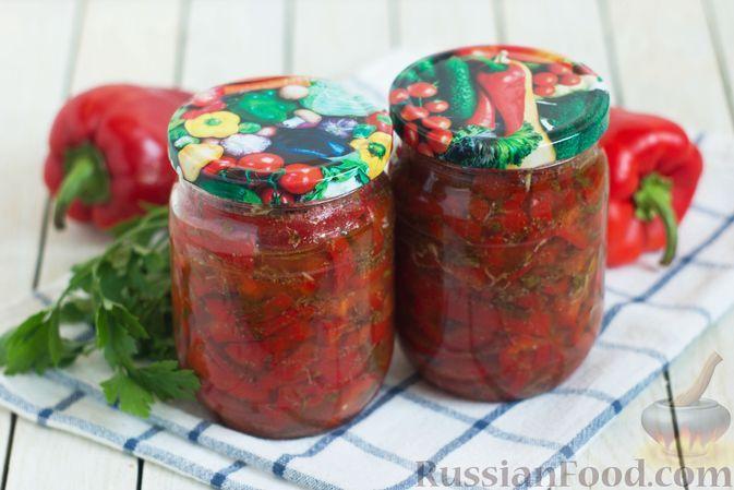 Фото к рецепту: Болгарский перец по-корейски (на зиму)
