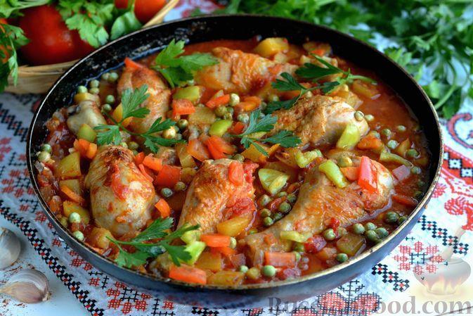Фото к рецепту: Афритада с курицей