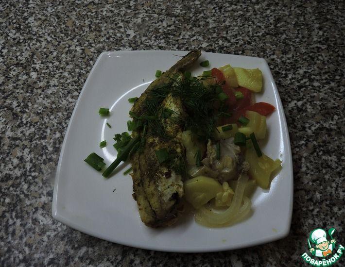 Рецепт: Рыба запеченная с овощами в духовке