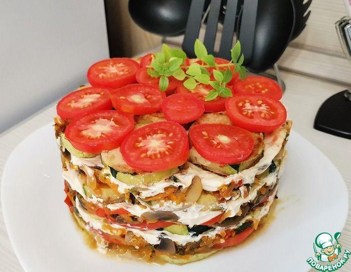 Рецепт: Овощной торт с кабачками