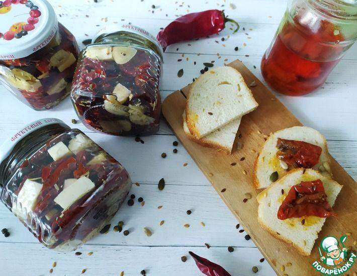 Рецепт: Вяленые томаты с брынзой